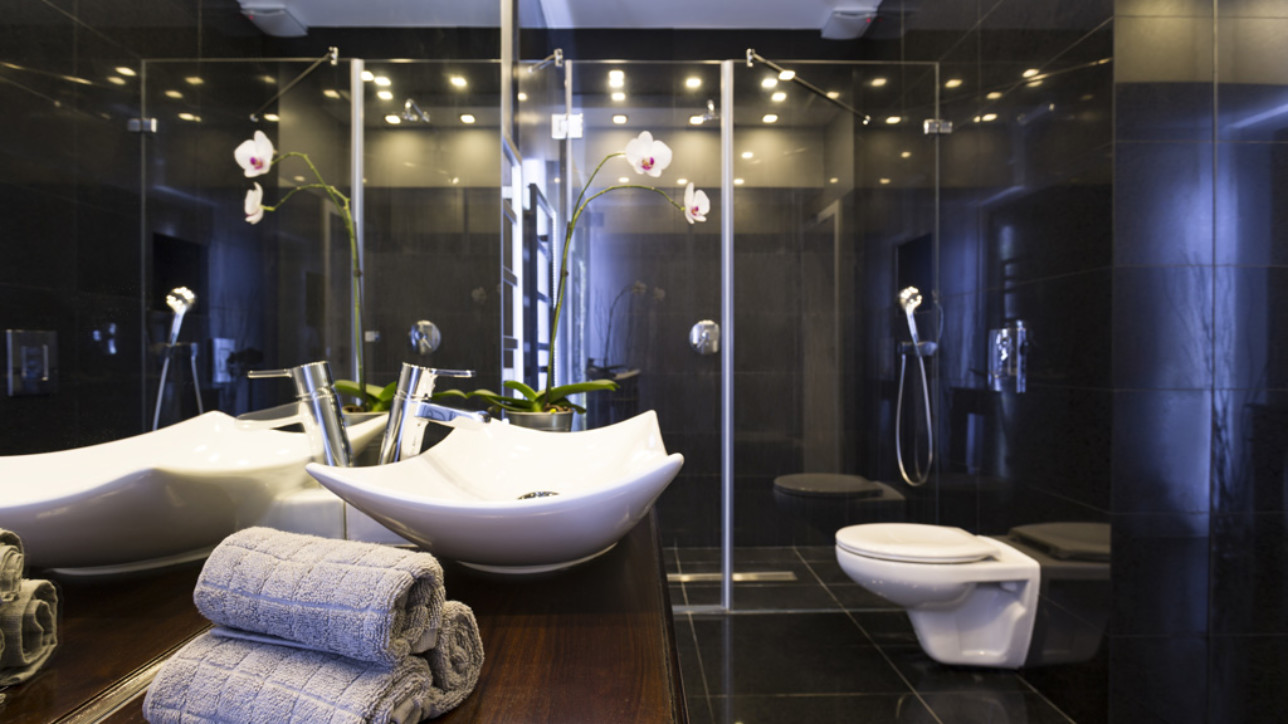 Add high-end value to your bathroom with a walk-in shower!