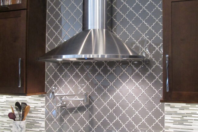 Warm Grey Backsplash